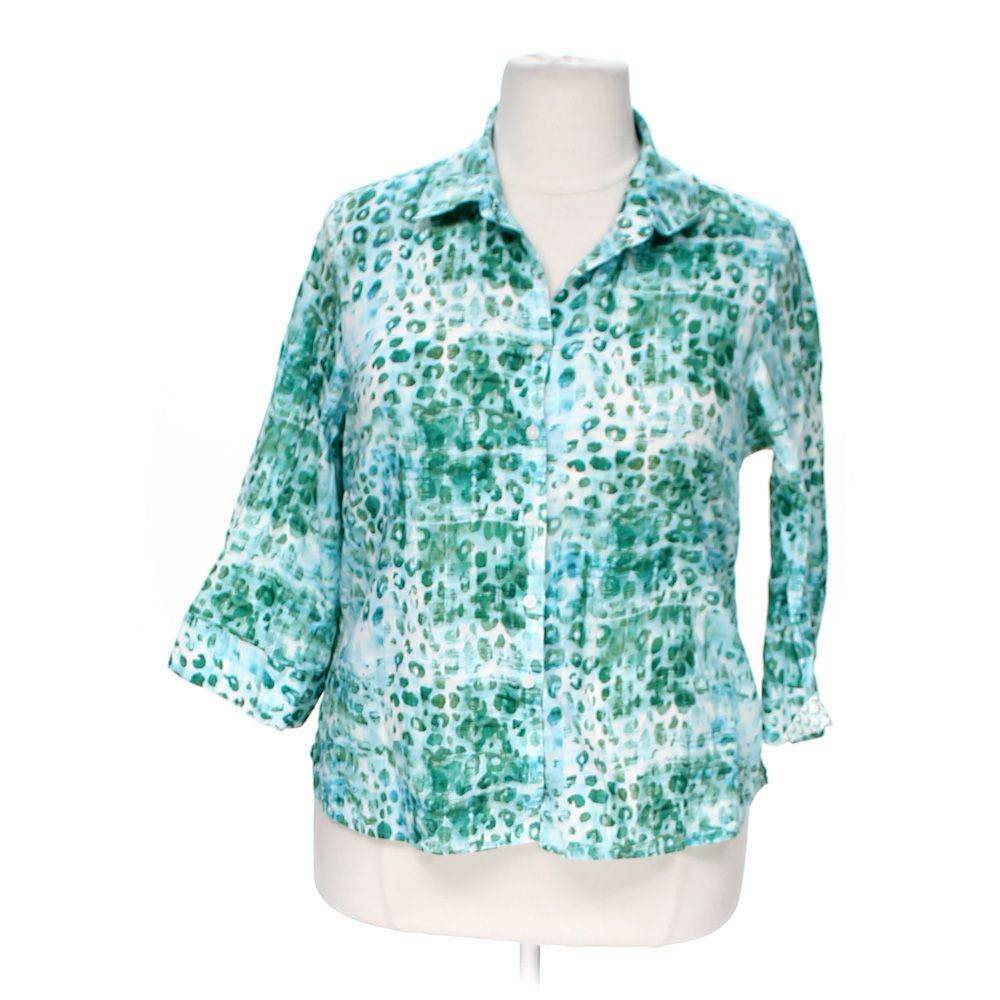 Westbound woman women 39 s wrinkle free button up shirt size for How do wrinkle free shirts work