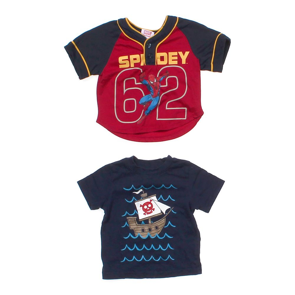 """""Spidey Shirt & Pirate Tee, size 18 mo"""""" 1252314045"