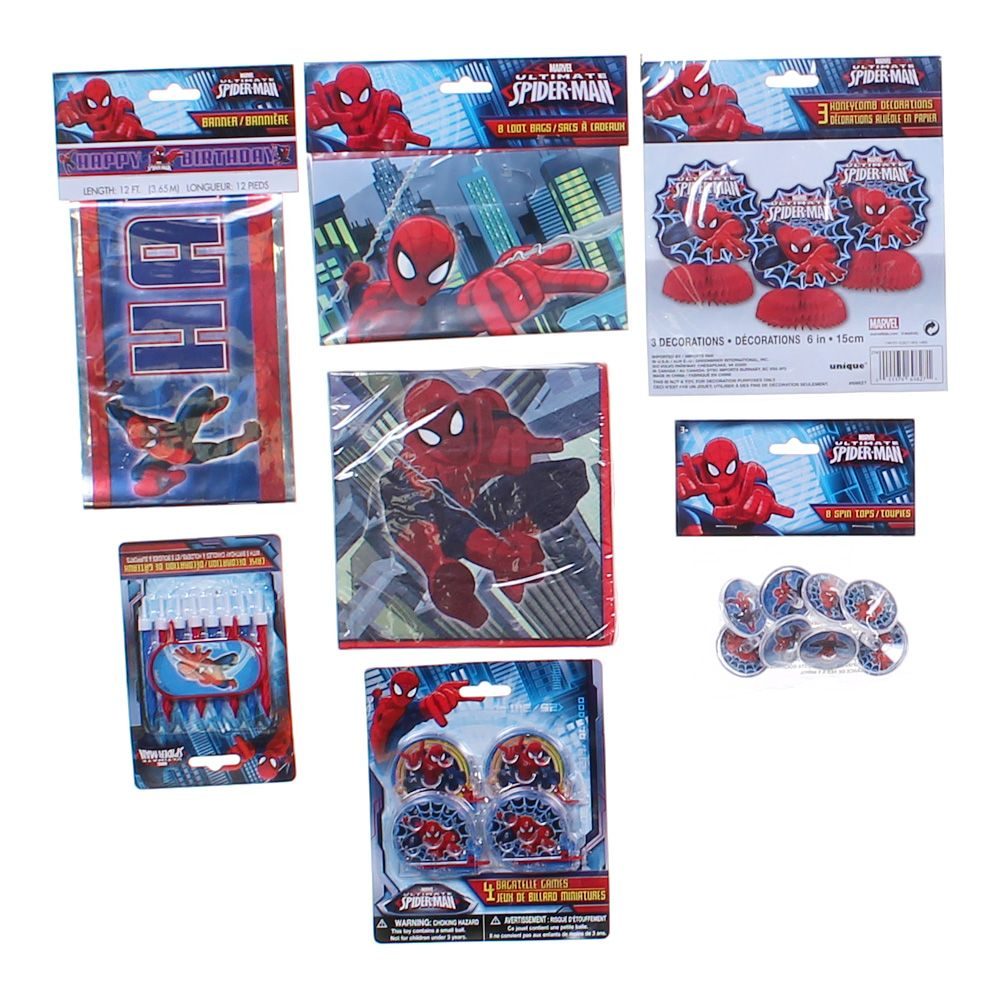 """""Spider-Man Party Set, size 12', 6"""""""", 2.25"""""""""""""" 1981844191"