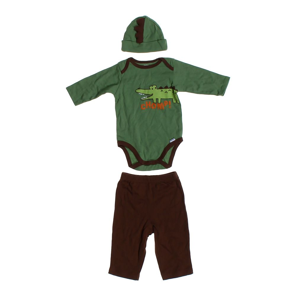 """Image of """"3 Piece Crocodile Outfit, size 3 mo"""""""