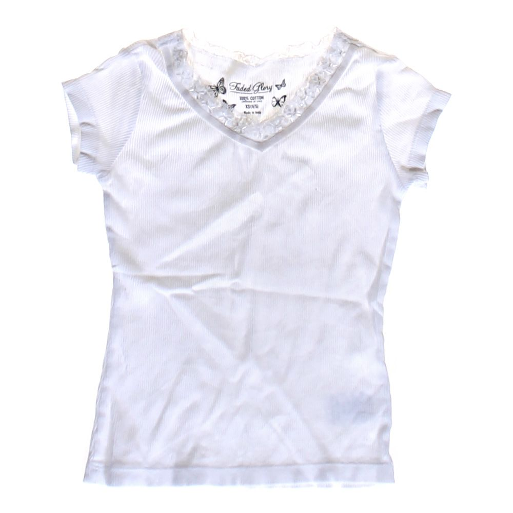 """""Ribbed V-neck Tee, size JR 3"""""" 2066394529"