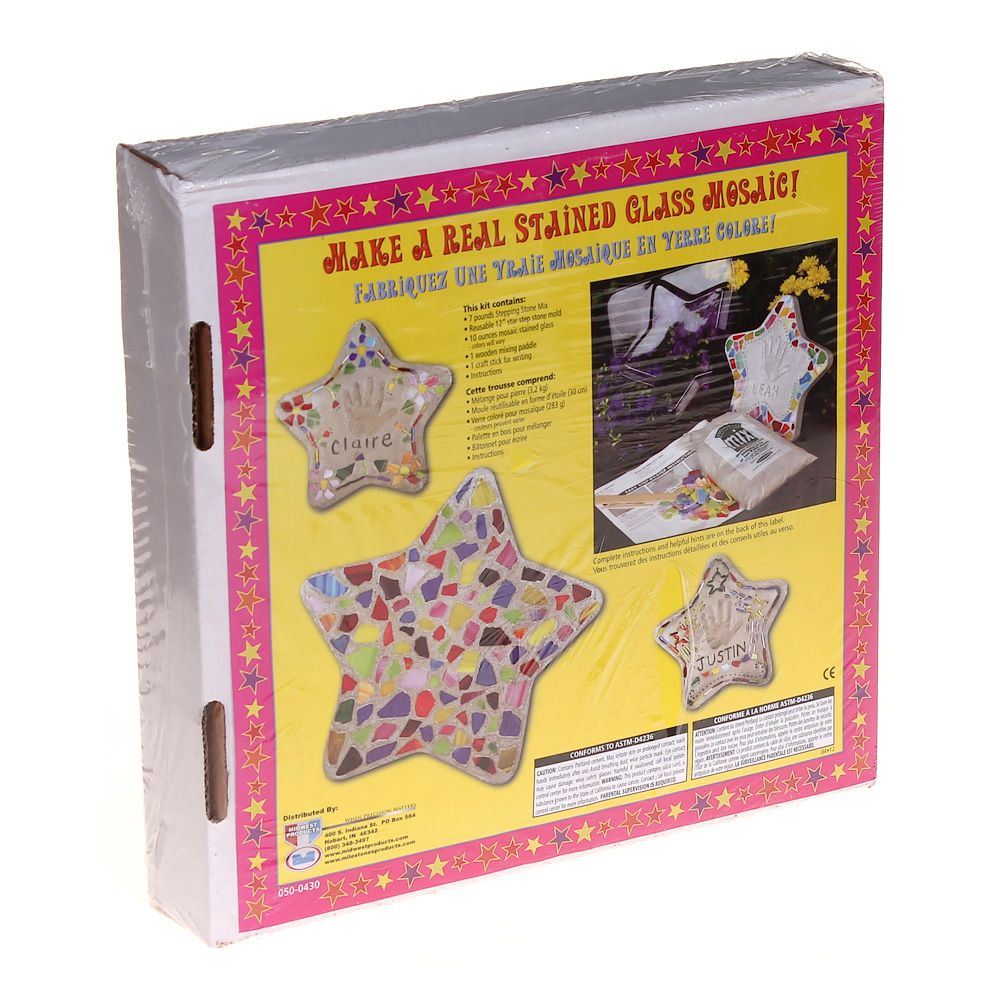 Image of Mosaic Star Stepping Stone Kit
