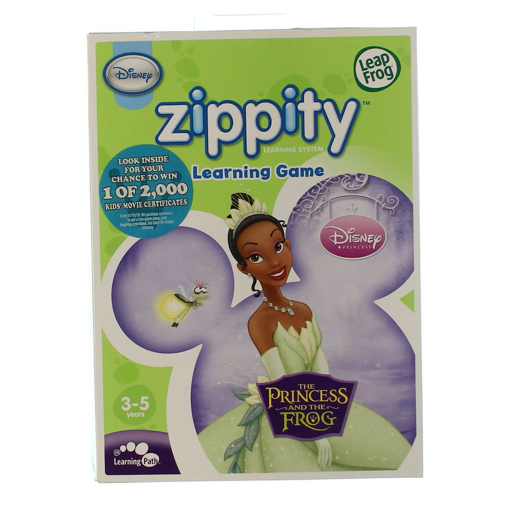 LeapFrog Zippity Learning Game: Disney The Princess and the Frog 3241184084