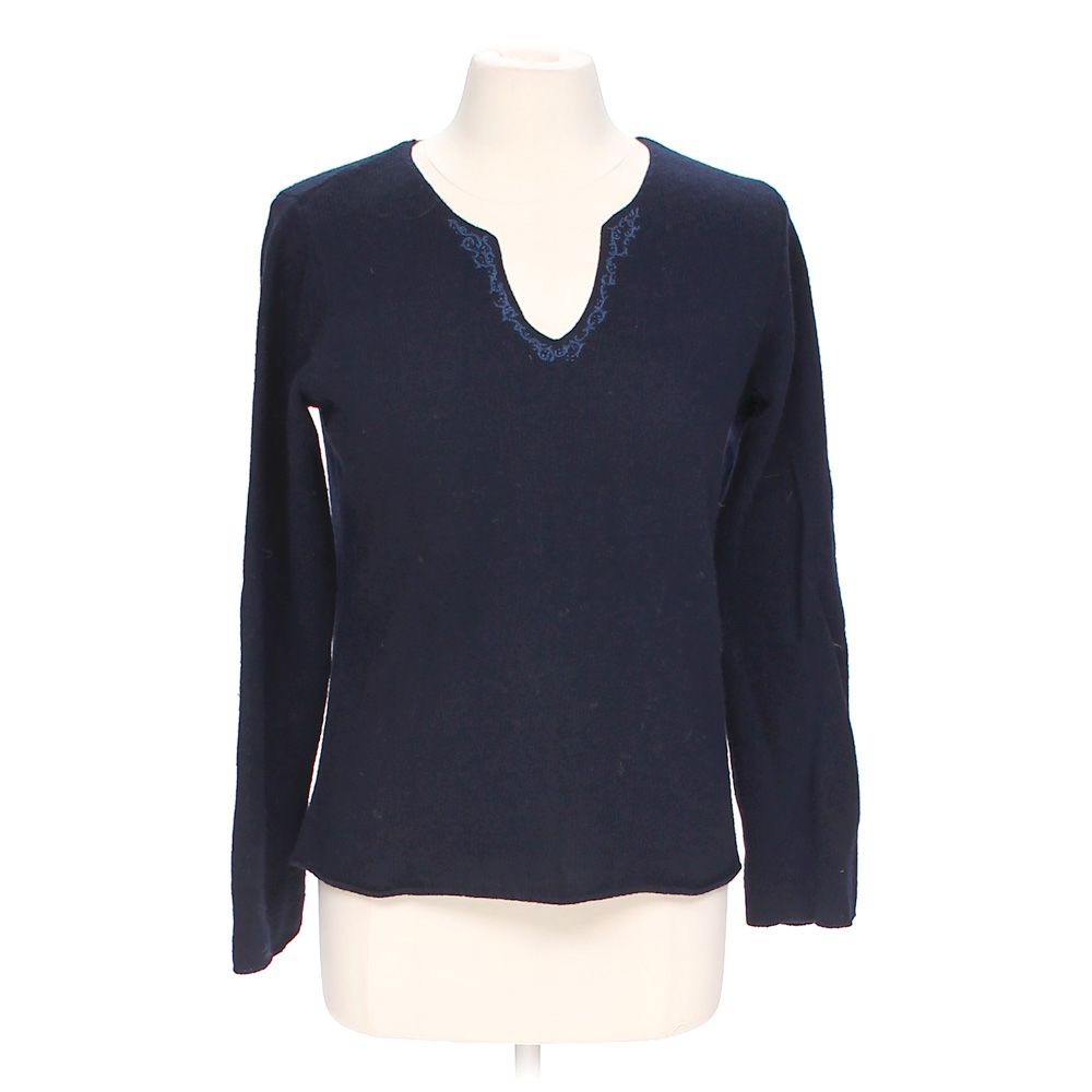 """""Embroidered Trim Sweater, size M"""""" 3448174485"