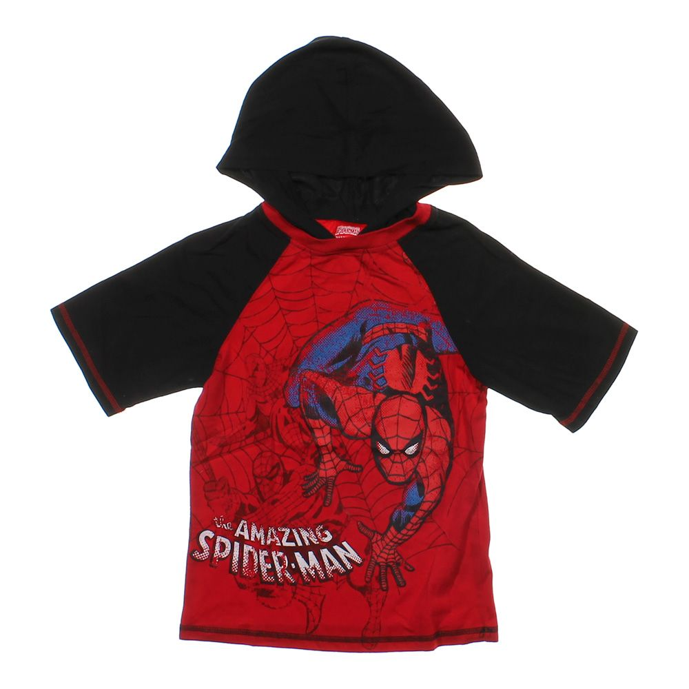 """""Hooded Spider Man Shirt, size 8"""""" 3562454325"