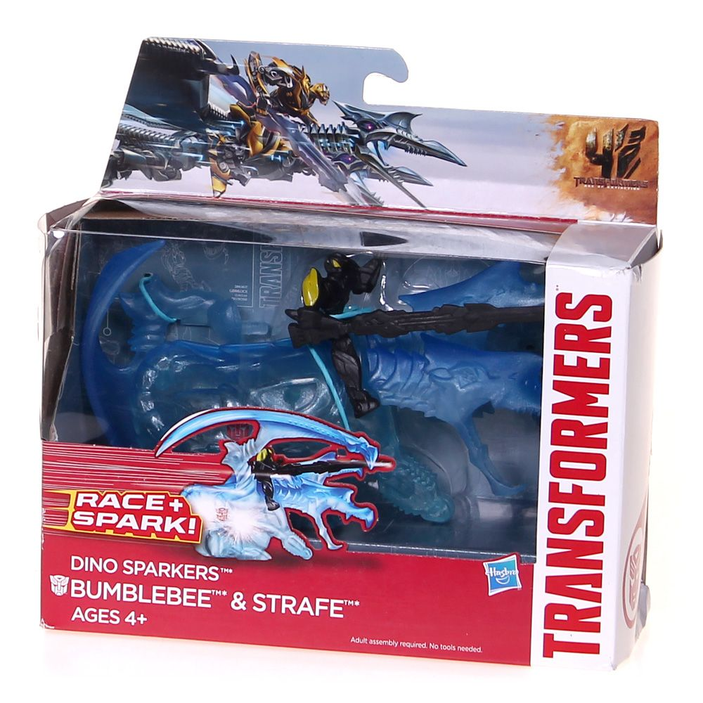 Transformers Age of Extinction Dino Sparkers Bumblebee and Strafe Figures 4071785104