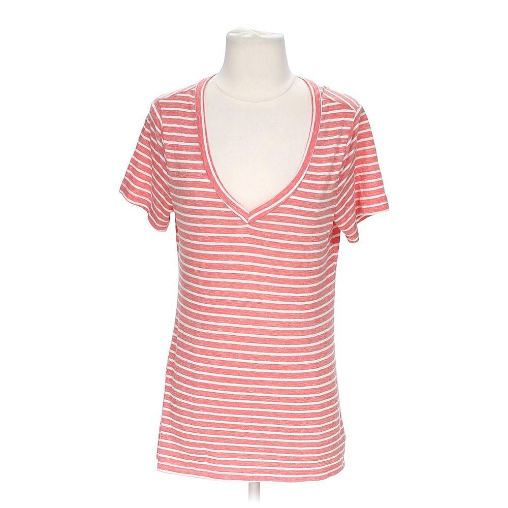 """""Striped V-neck Tee, size M"""""" 4161234644"