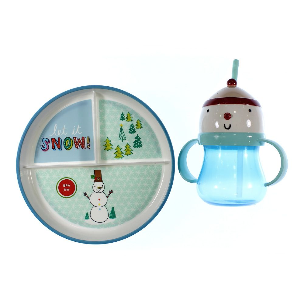 Snowman Plate & Sippy Cup 4380974566
