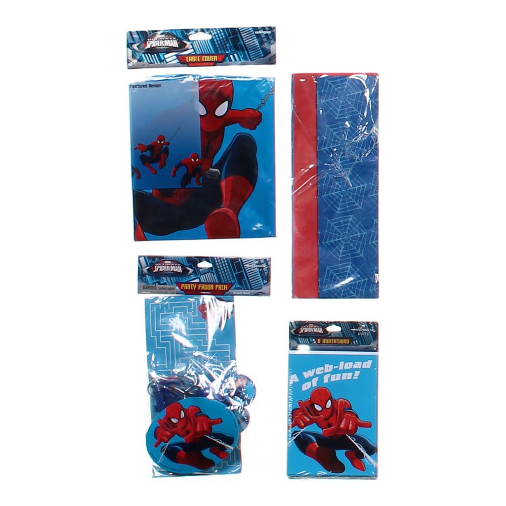 """""Spider-Man Party Supplies, size 54"""""""" x 84"""""""", 20 piece set"""""" 4754574360"