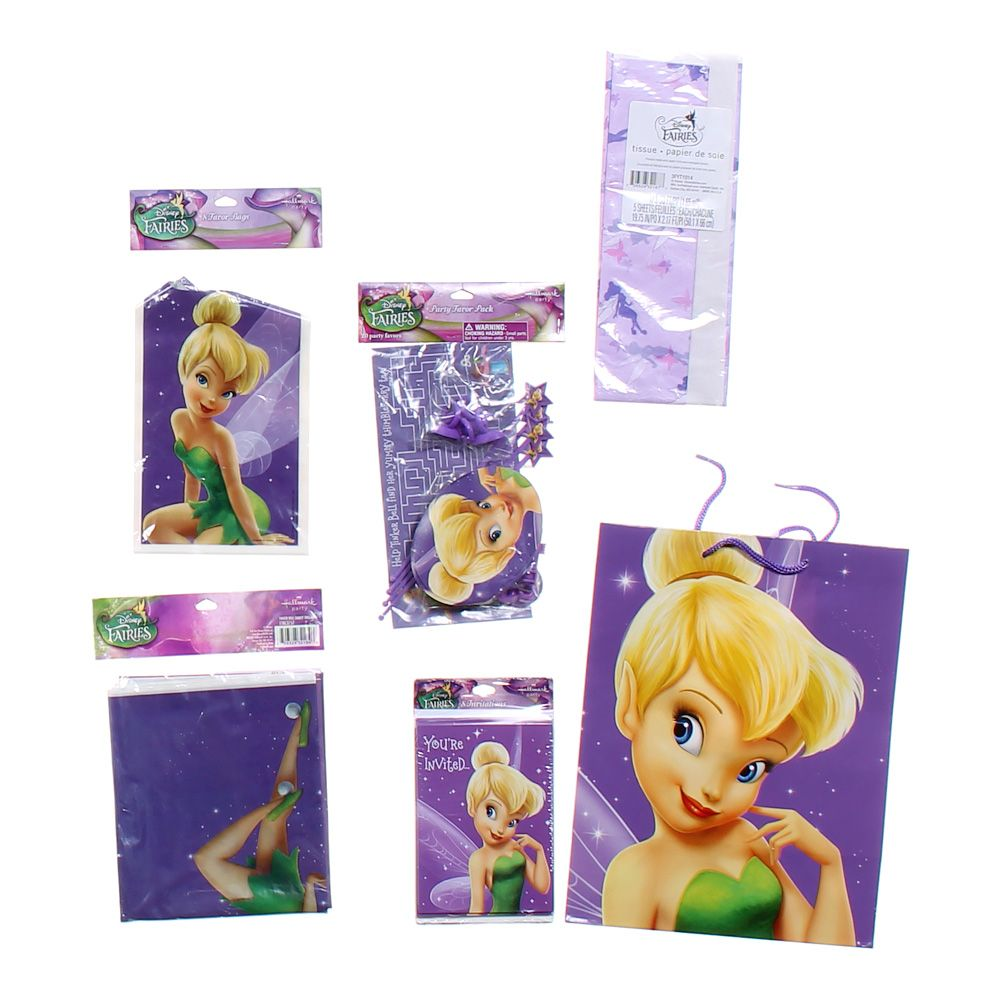 """""Tinker Bell Party Set, size 4"""""""" X 8"""""""", 54"""""""" X 84"""""""""""""" 4756554014"