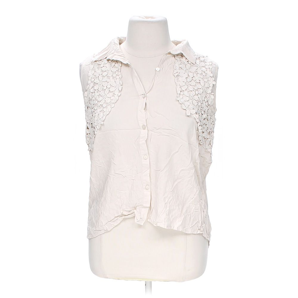 """""Embroidered Button-up Tank Top, size 18, 20"""""" 4794475672"