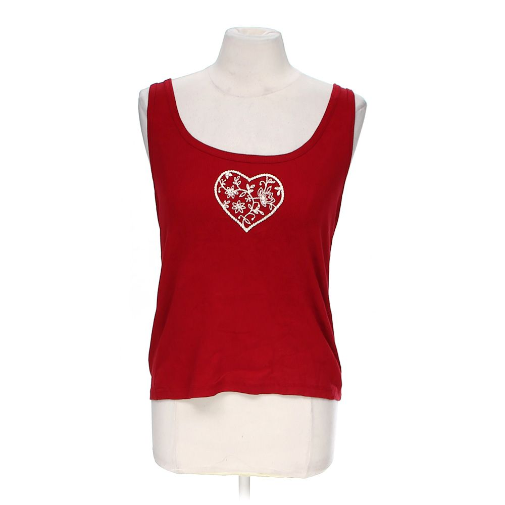 """""""""""Heart Embroidered Tank Top, size M"""""""""""" 4835005412"""