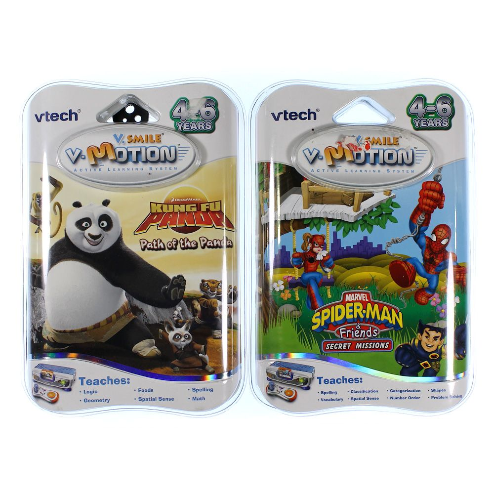V-tech V Motion: Kung Fu Panda & Spider Man Games 4983516416
