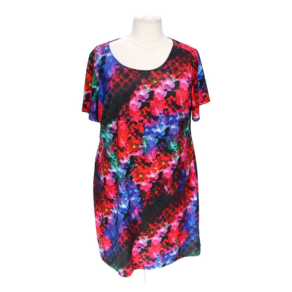 """""Vibrant Floral Dress, size XL"""""" 5114634179"