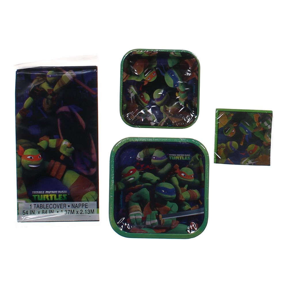 """""Teenage Mutant Ninja Turtles Party Set, size 54"""""""" x 84"""""""", 9"""""""" x 9"""""""", 7"""""""" x 7"""""""", 10"""""""" x 10"""""""""""""" 5128146790"