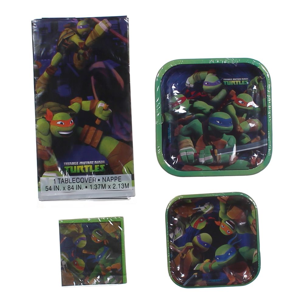 """""Teenage Mutant Ninja Turtles Party Set, size 54"""""""" x 84"""""""", 9"""""""" x 9"""""""", 10"""""""" x 10"""""""", 7"""""""" x 7"""""""""""""" 5146468713"