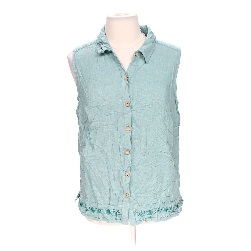 """""Embroidered Button-up Tank Top, size 18"""""" 5318424832"