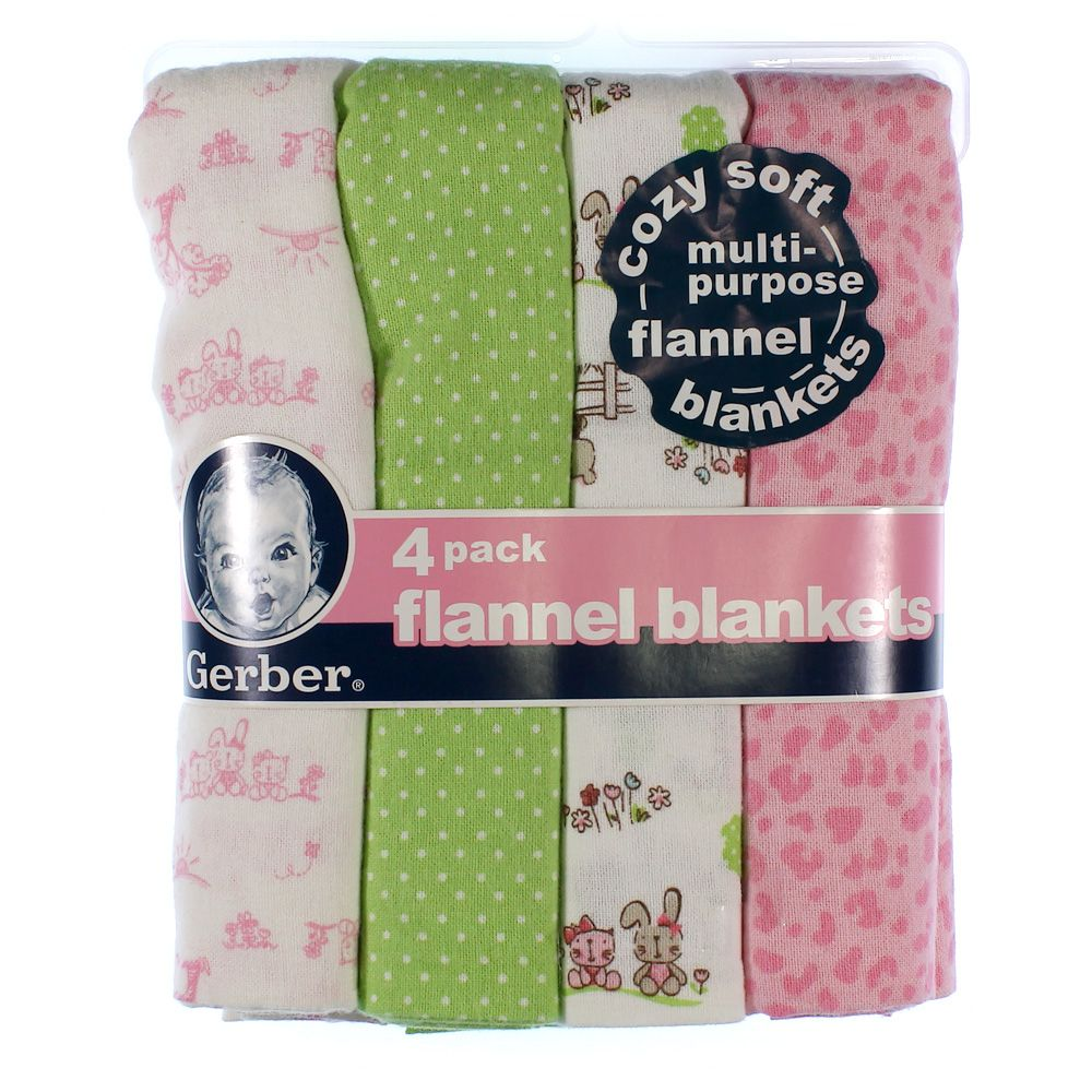 "Image of ""4 Pack Flannel Blankets, size 30"""" x 30"""""""