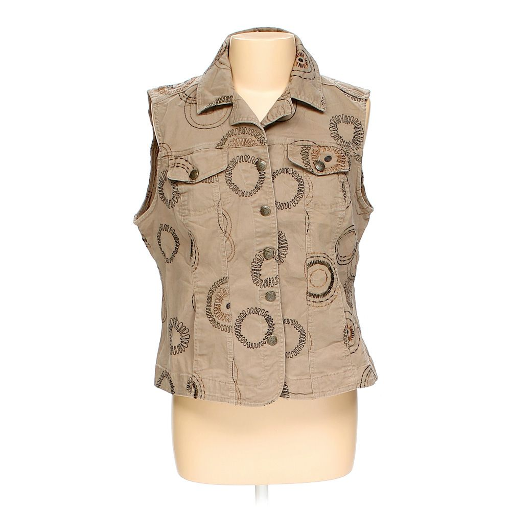 """""Embroidered Button-up Tank, size 16"""""" 5369134506"