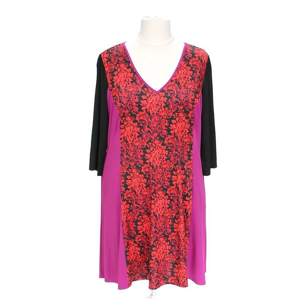 """""Vibrant Floral Dress, size XL"""""" 5390885635"