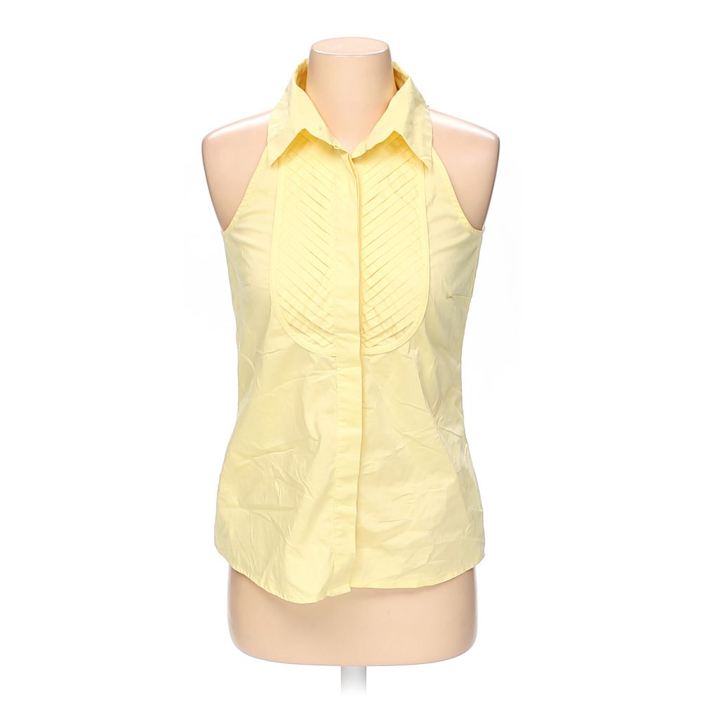 """""Pleated Sleeveless Button-up Top, size XS"""""" 5563124096"