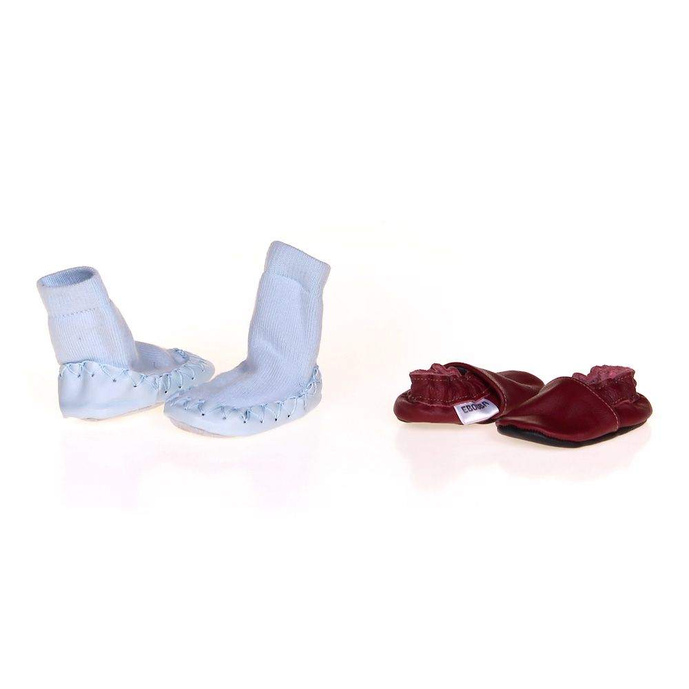"Image of ""Adorable Slippers Set, size 0 Infant"""