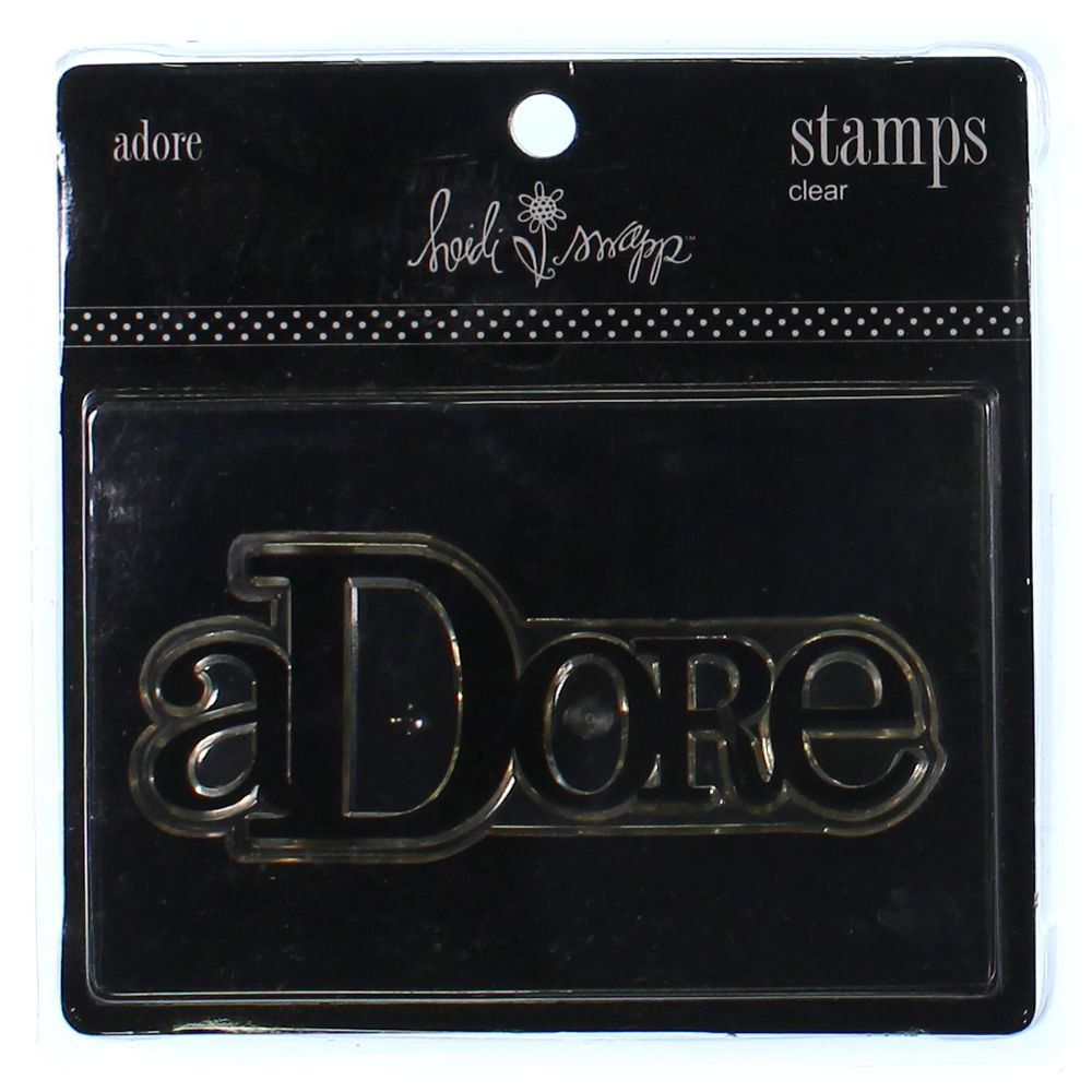 "Image of """"""Adore"""" Clear Stamp"""