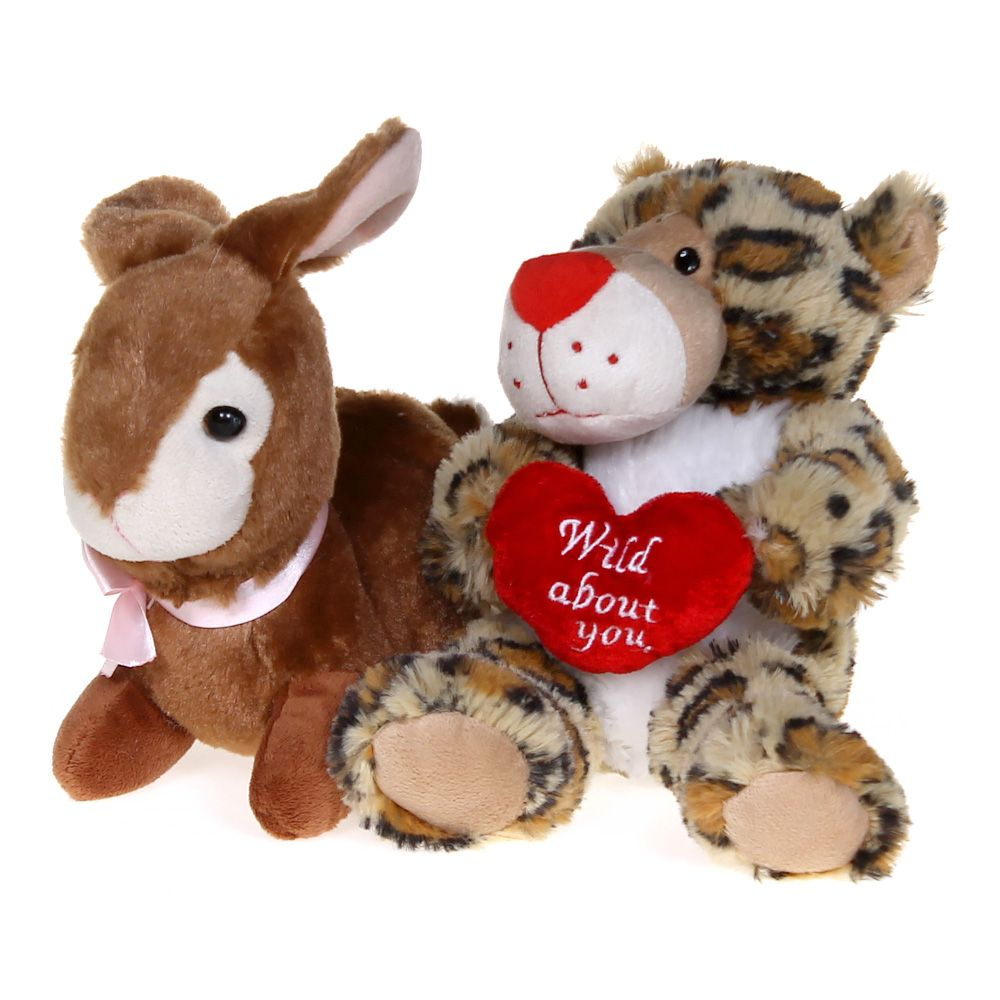 Image of Bunny Plush & Leopard Plush Set
