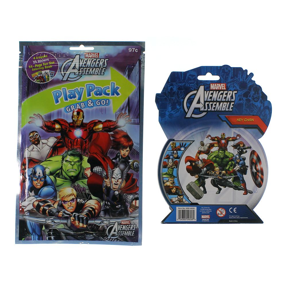 Marvel Avengers Assemble Play Pack & Collectable Key Chain 5786194129