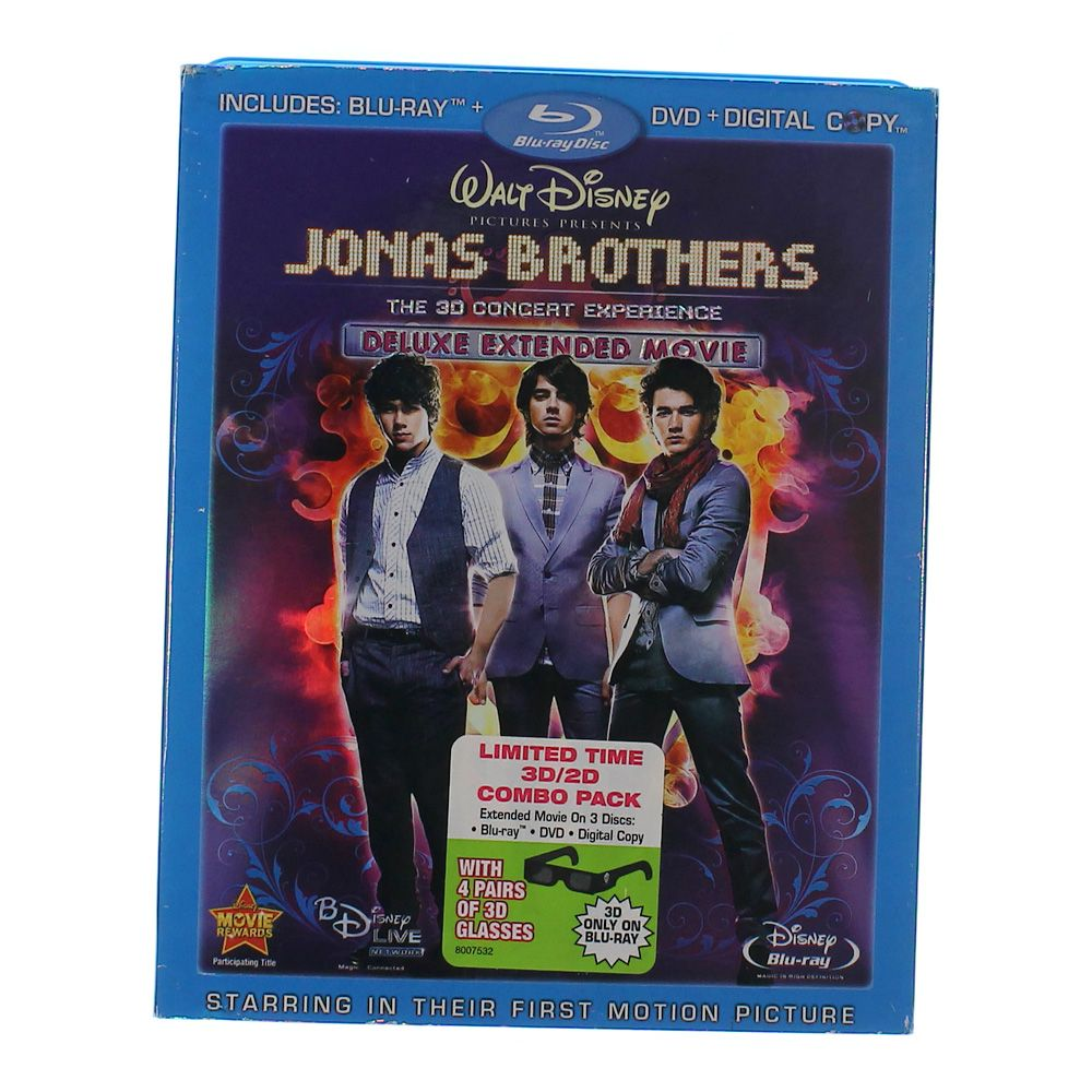 Movie: Jonas Brothers: The 3-D Concert Experience (Anaglyph 3D Blu-ray/DVD Combo w/ BD Live + Digital Copy)[Blu-ray Live] 6056452171