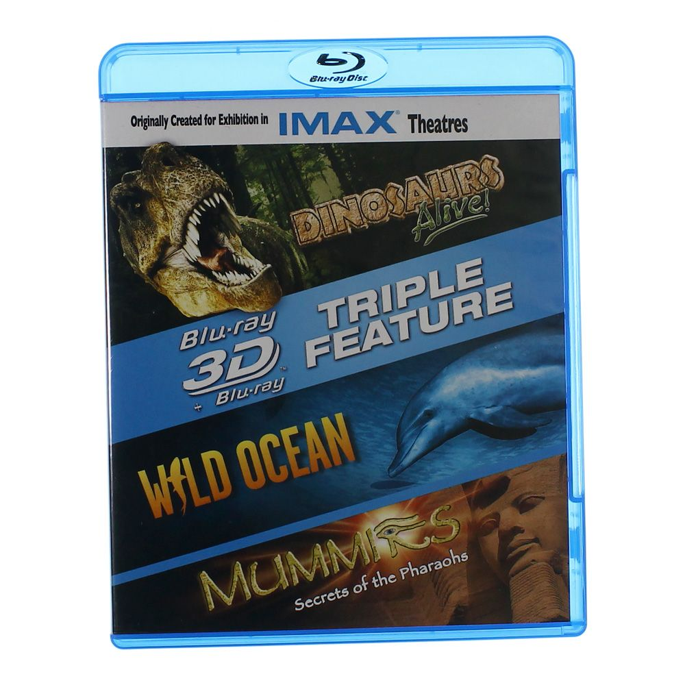 """""Movie: Dinosaurs Alive!, Wild Ocean, Mummies Secrets of the Pharaohs"""""" 6159284237"