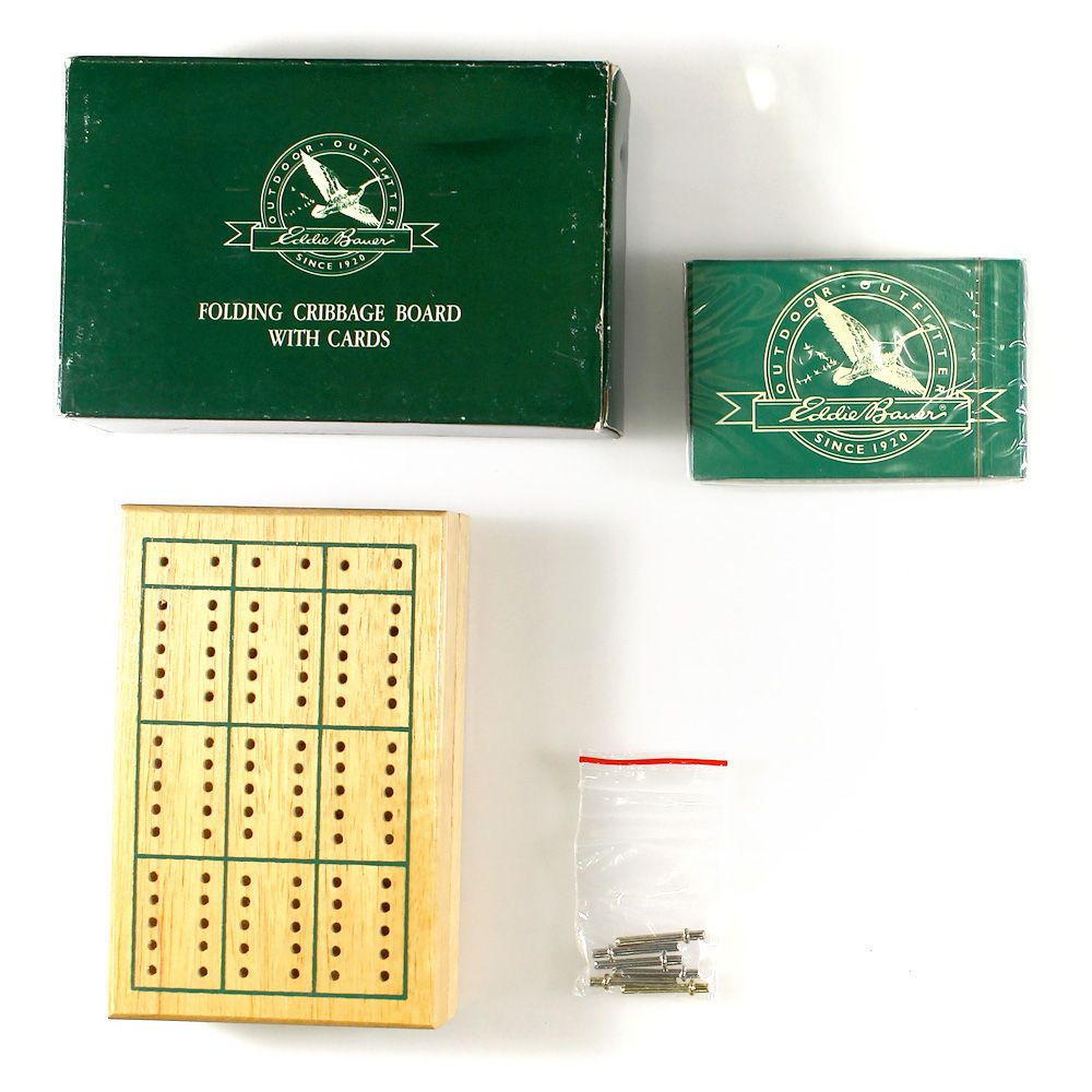 Image of Game: Eddie Bauer Folding Cribbage Board With Cards