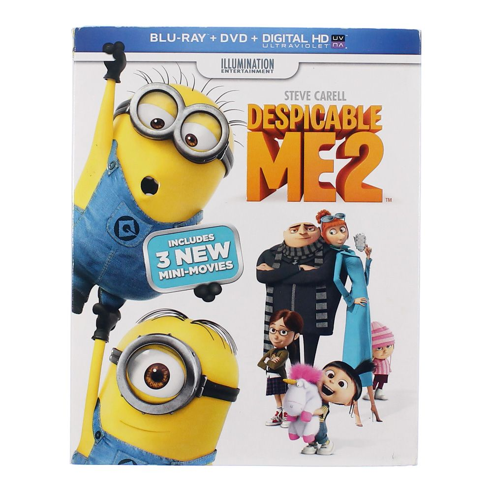 Movie: Despicable Me 2 [2 Discs][Blu-ray/DVD][2013] 6686668966