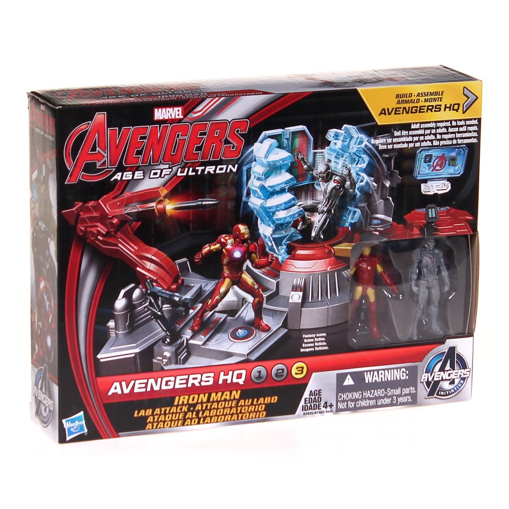 Marvel Avengers Age of Ultron Iron Man Lab Attack Playset 6708195675
