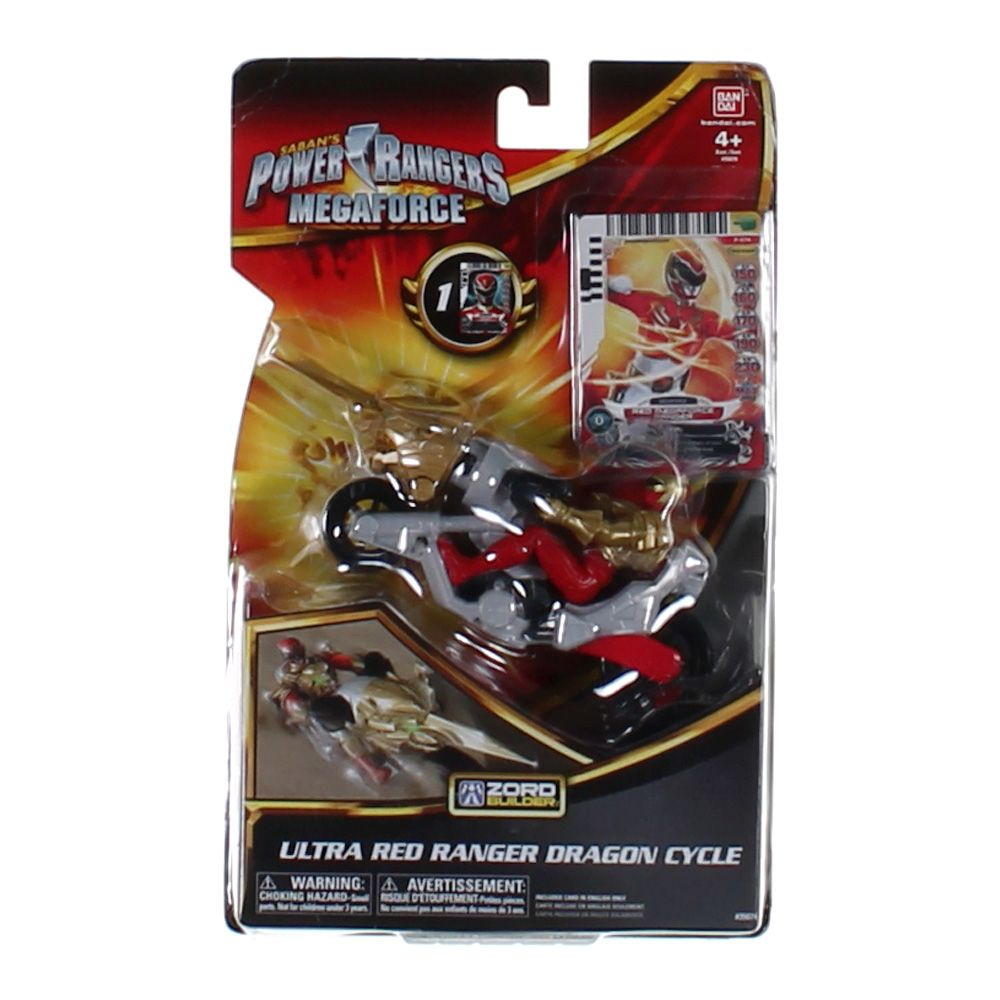 Power Rangers Ultra Dragon Cycle and Red Ranger Action Figure Play Set 6747895756