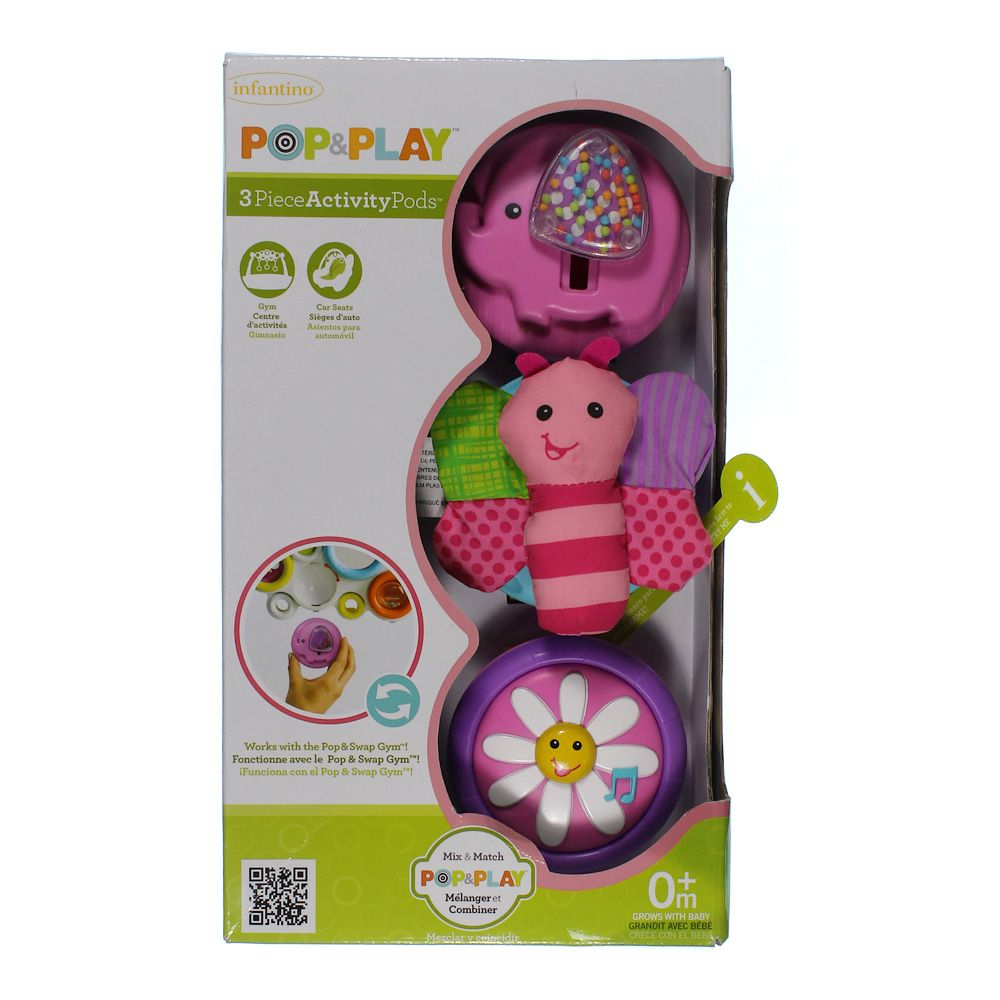 """""""""""Infantino Pop & Play 3 Count Activity Pods, Girl (Discontinued by Manufacturer)"""""""""""" 7184094434"""