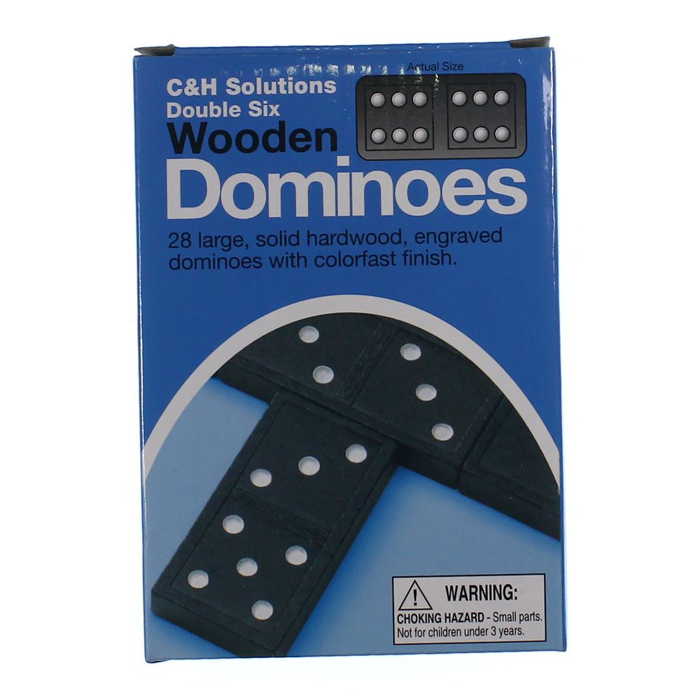 Game: Double Six Wooden Dominoes 7233937893