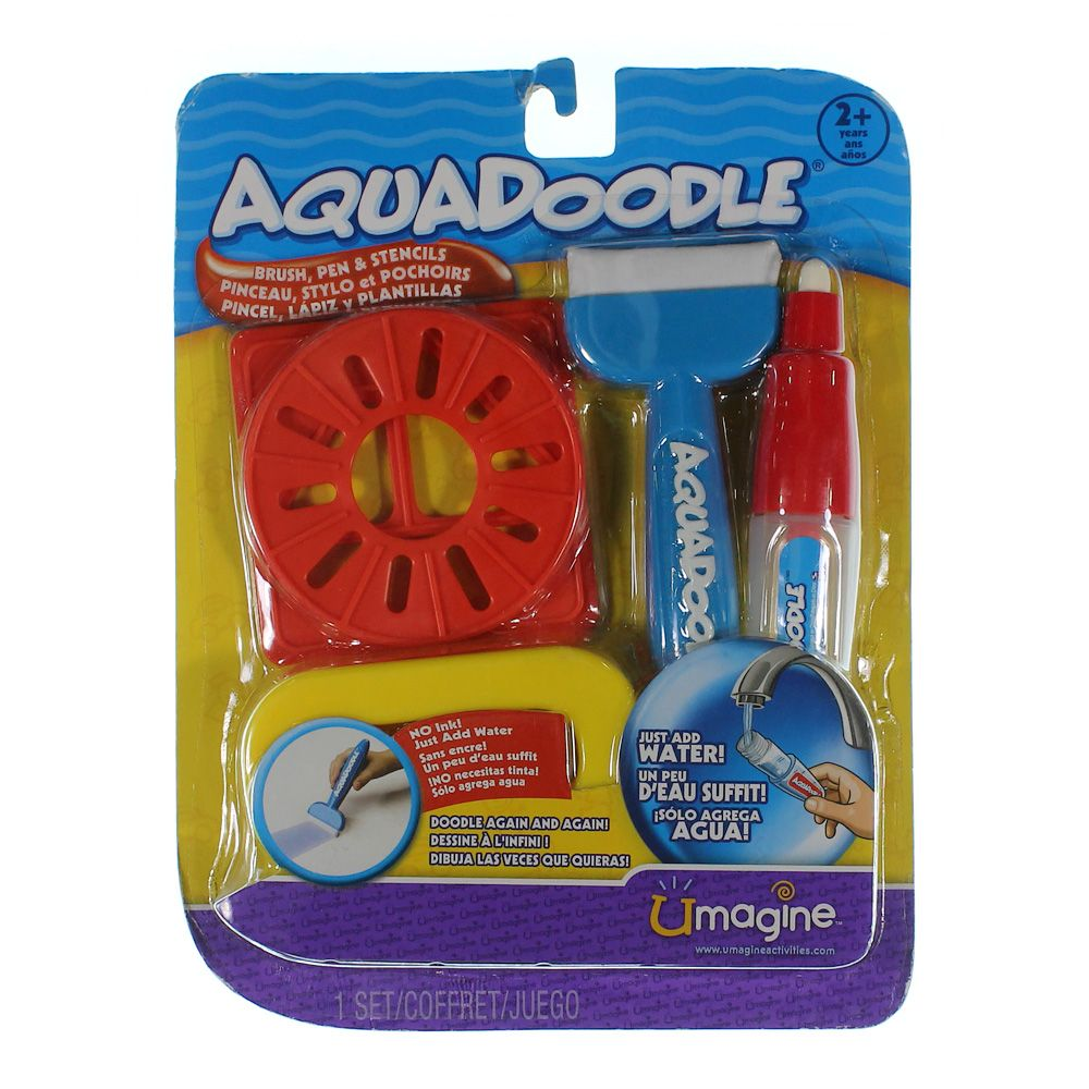 """""Aquadoodle Brush, pen, and stencils with bonus spill-proof cup"""""" 7241157030"
