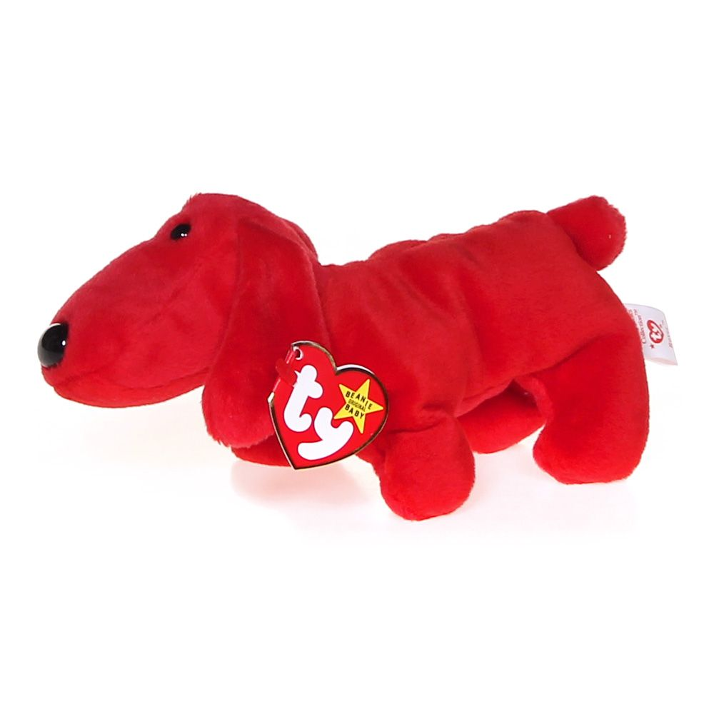 6.5 Inch Ty Beanie Baby ~ ROVER the Red Dog MWMT