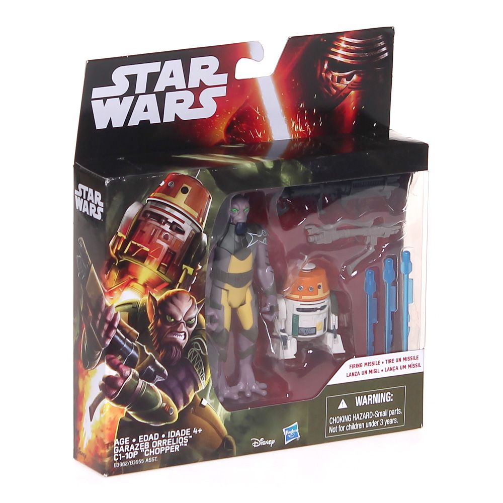 Star Wars Rebels 3.75-Inch Figure 2-Pack Forest Mission Garazeb Orrelios and C1-10P 7362165109