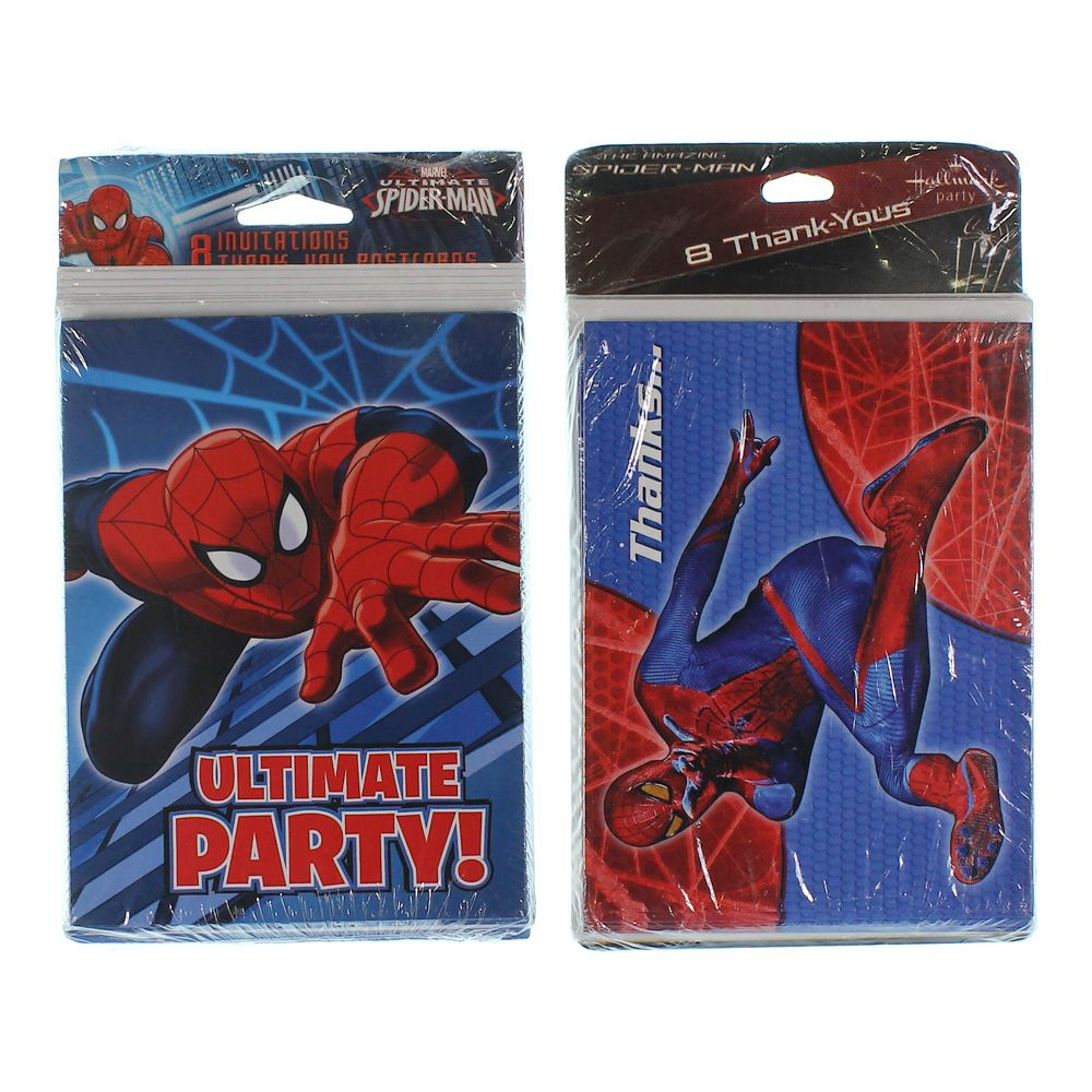 Spider-Man Invitations and Thank You Cards 7383901945