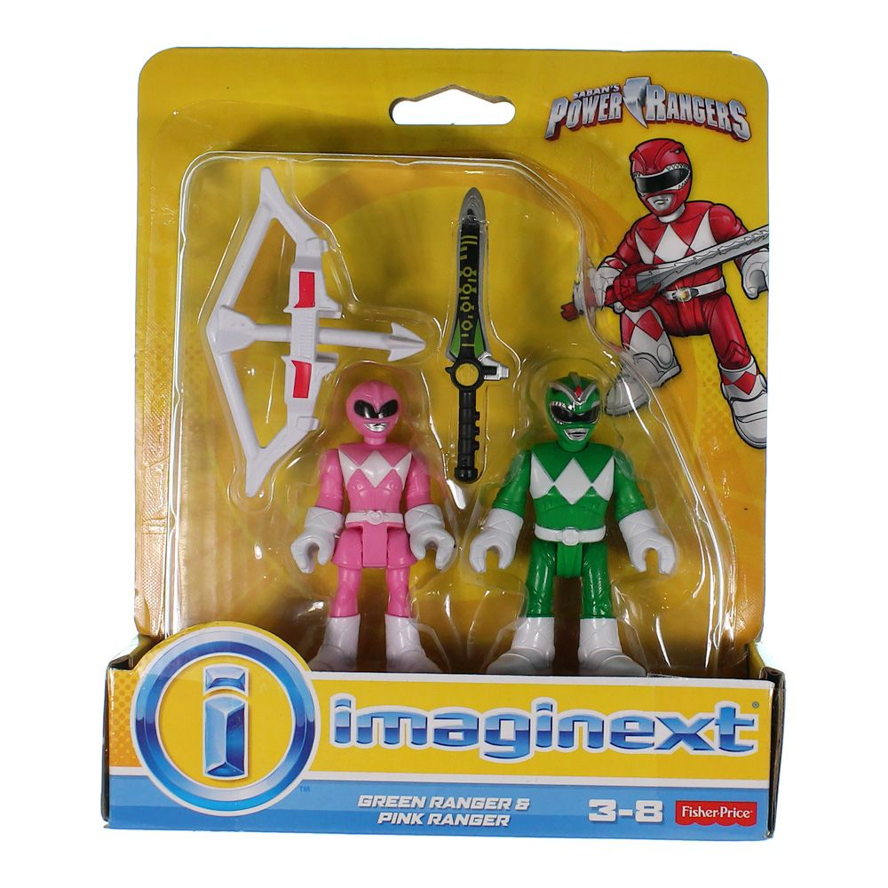 Fisher-Price Imaginext Power Rangers - Green and Pink Rangers 7467233967