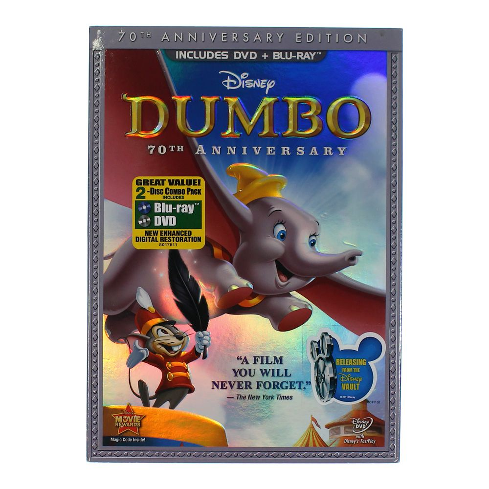 Movie: Dumbo (Two-Disc 70th Anniversary Edition Blu-ray / DVD Combo Pack in DVD Packaging) 7525768756
