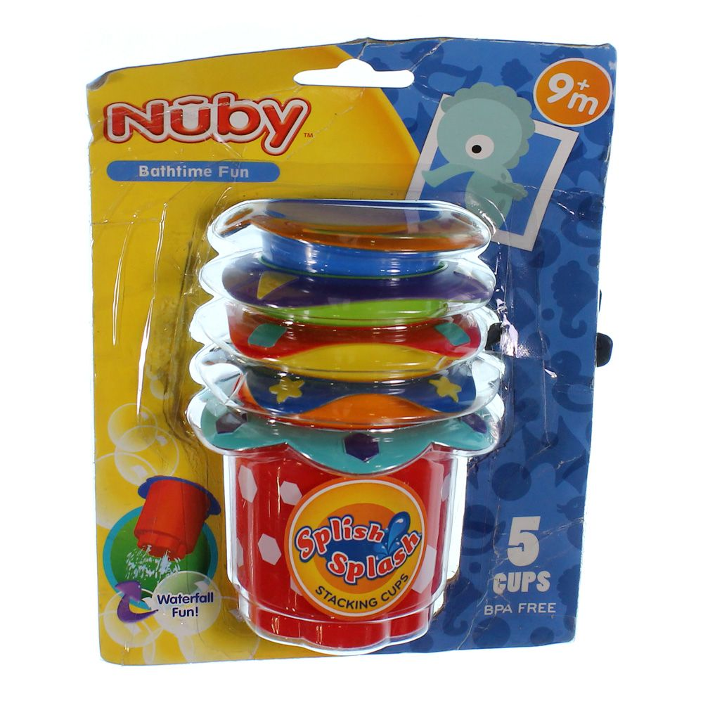 """""""""""Nuby Splish Splash Stacking Bath Cups, 5 Count [Pack of 1]"""""""""""" 7561647781"""