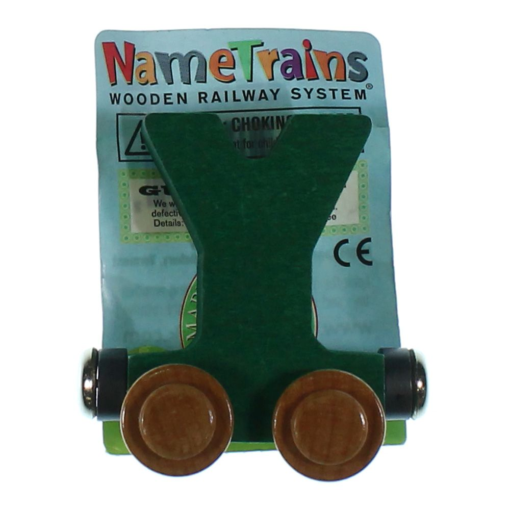 Image of Letter Y Wooden Magnetic Train Cart