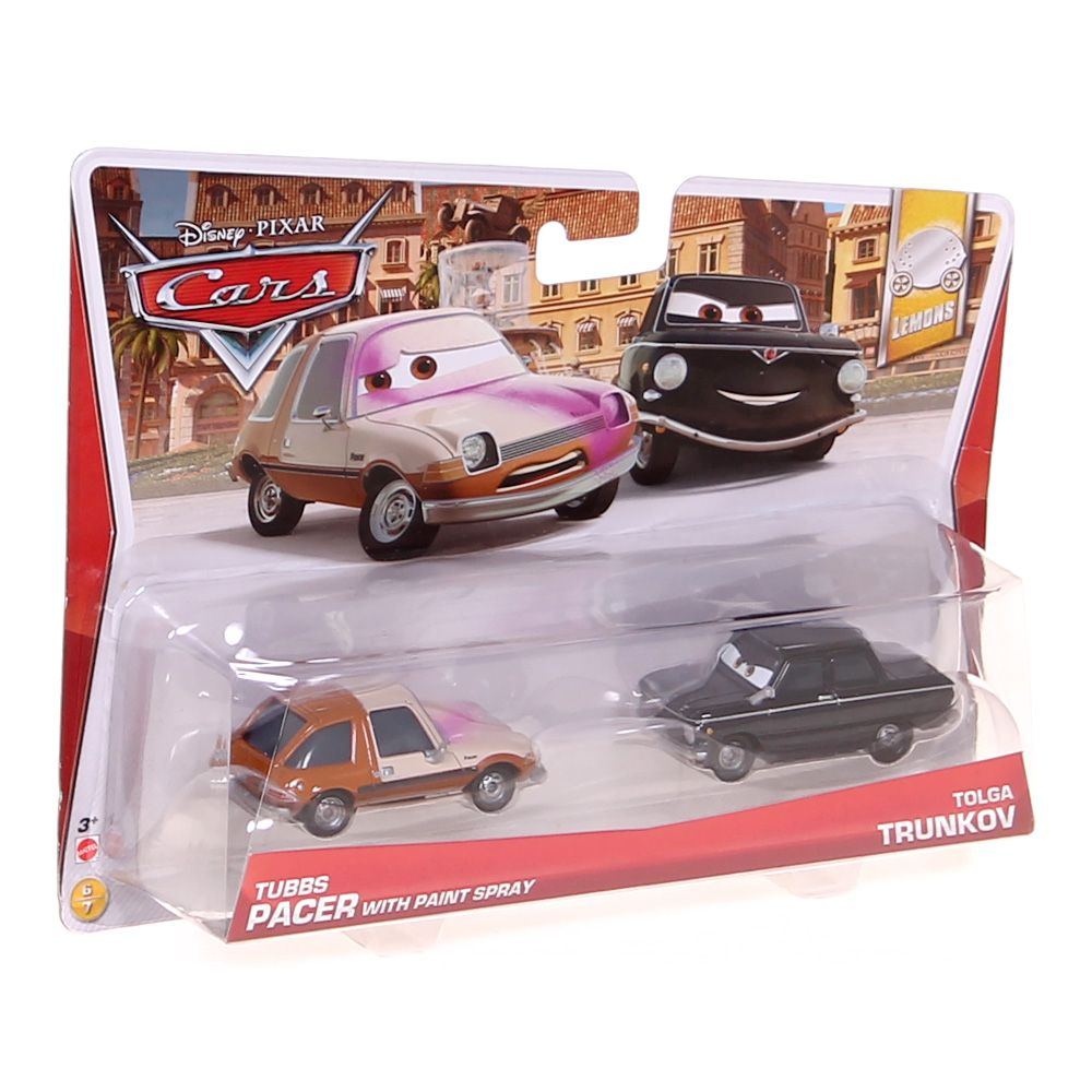 """Image of """"Disney/Pixar Cars Tubbs with Painted Face and Black Trunkov Diecast Vehicle, 2-Pack"""""""