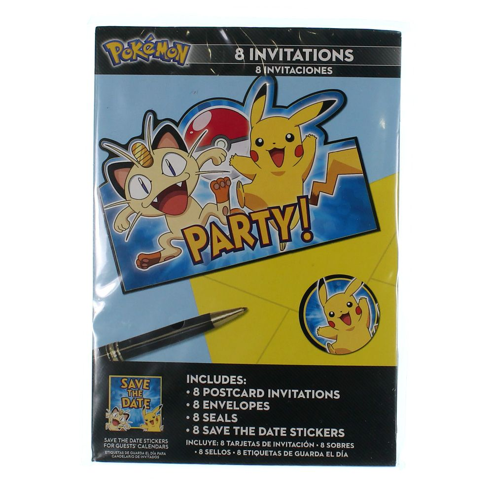 Image of American Greetings Pokemon Invitations (8 Count)