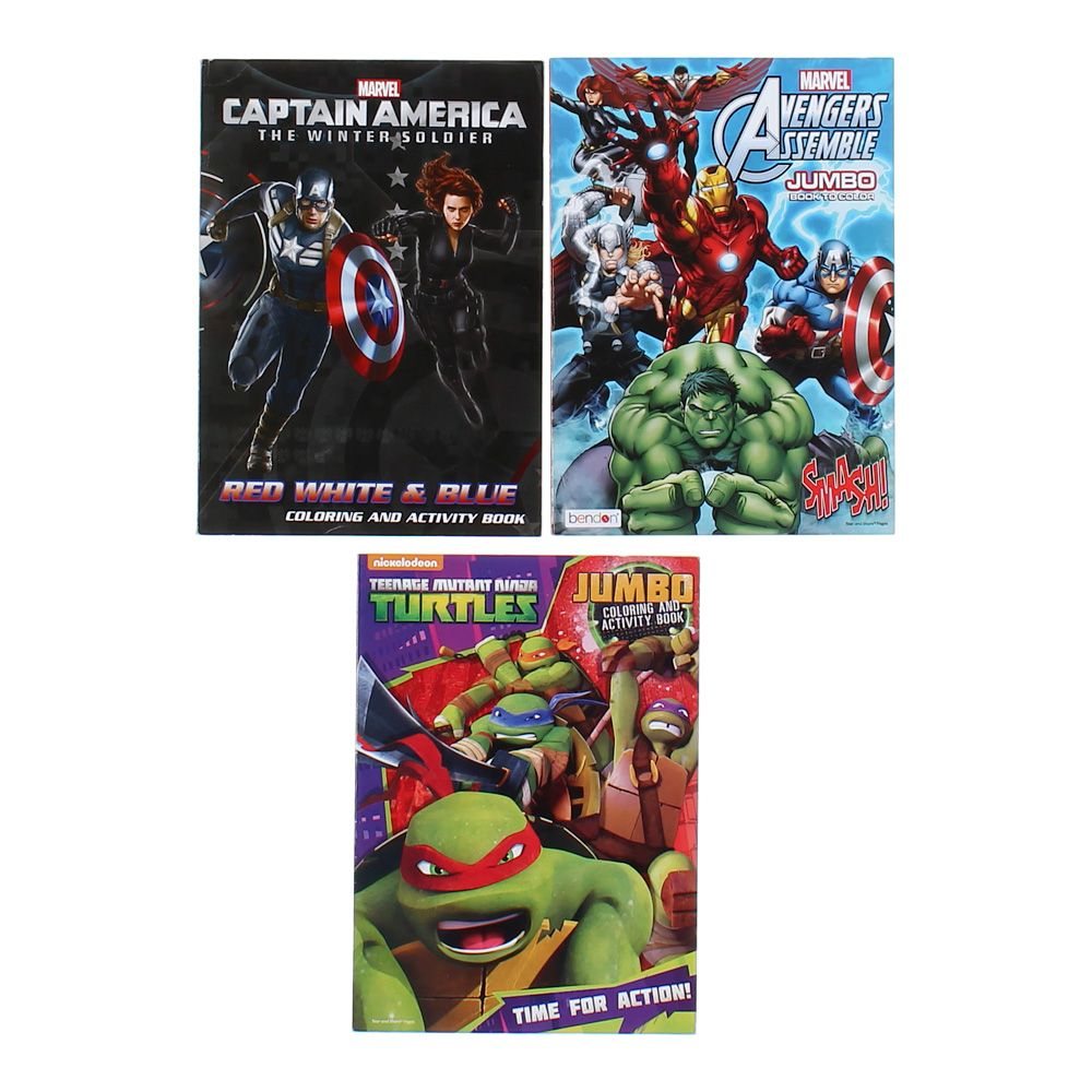 Marvel & Nickelodeon Coloring & Activity Book Set 7805074906