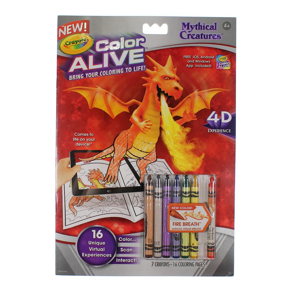Crayola Color Alive Action Coloring Pages-Mythical Creatures [1] 7948657701