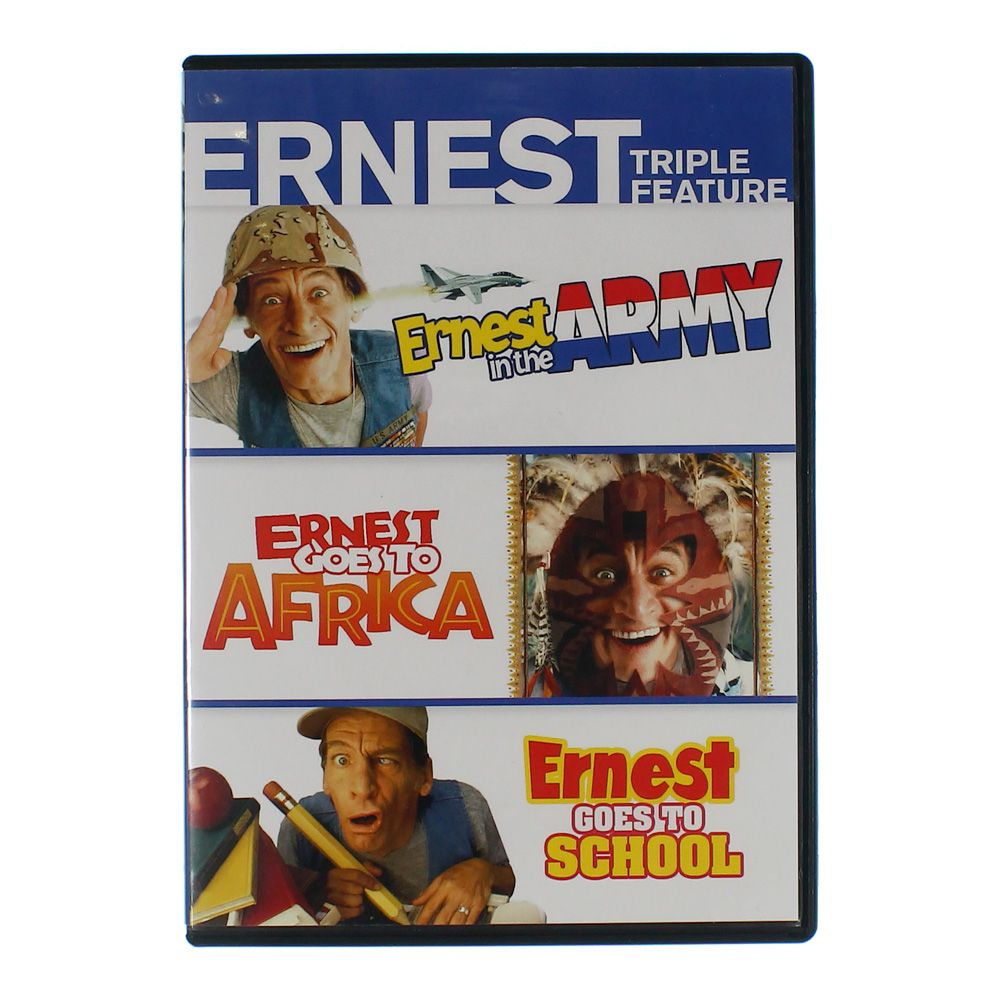 Movie: Ernest Triple Feature (Ernest in the Army / Ernest Goes to School / Ernest Goes to Africa) 7991526259